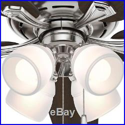 Hunter Channing 60 in. LED Indoor Brushed Nickel Ceiling Fan with Light Kit