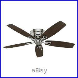 Hunter Classic Ceiling Fan 52 Hugger Flush Mount Low Profile 3 LED Lights Kit