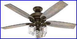Hunter Crown Canyon 52 Indoor Regal Bronze Ceiling Fan w Light Kit rustic farm