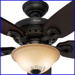 Hunter Fairhaven 52 in. Indoor Basque Black Ceiling Fan with Light Kit