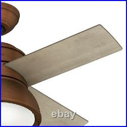 Hunter Fan 36 in Contemporary Weathered Copper Indoor Ceiling Fan with Light Kit