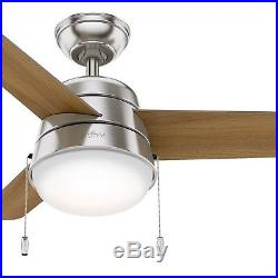Hunter Fan 36 inch Modern Ceiling Fan in Brushed Nickel with LED Light Kit