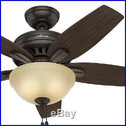 Hunter Fan 42 in. Premier Bronze Ceiling Fan with a CFL Light Kit
