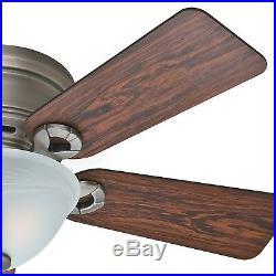 Hunter Fan 42 inch Antique Pewter Low Profile Ceiling Fan with Light Kit