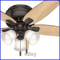 Hunter Fan 42 inch Casual Premier Bronze Indoor Ceiling Fan With LED Light Kit