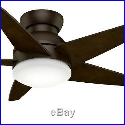 Hunter Fan 44 inch Low Profile Brushed Cocoa Indoor Ceiling Fan with Light Kit
