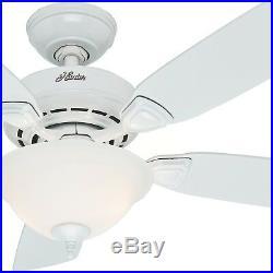Hunter Fan 44 inch Snow White Ceiling Fan with Light Kit