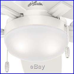 Hunter Fan 46 in. Contemporary Ceiling Fan with LED Light Kit in Fresh White