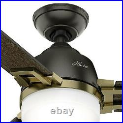 Hunter Fan 48 inch Contemporary Noble Bronze Indoor Ceiling Fan with Light Kit