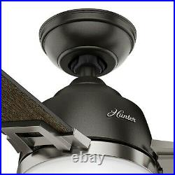 Hunter Fan 48 inch Noble Bronze Ceiling Fan with Light Kit and Remote Control