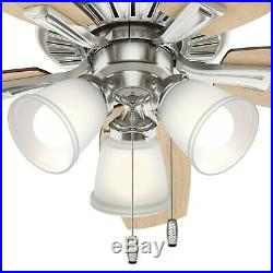 Hunter Fan 48 inch Traditional Brushed Nickel Indoor Ceiling Fan withLED Light Kit