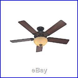 Hunter Fan 52 Ceiling Fan with Bowl Light Kit in New Bronze, 5-Blade