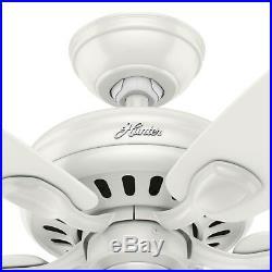Hunter Fan 52 in. Fresh White Ceiling Fan with LED Clear Glass Light Kit