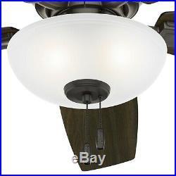 Hunter Fan 52 in. Low Profile Noble Bronze Ceiling Fan with LED Bowl Light Kit