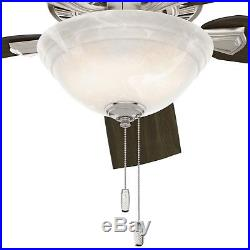 Hunter Fan 52 in. Traditional Ceiling Fan with Bowl Light Kit in Brushed Nickel