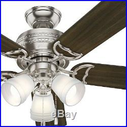 Hunter Fan 52 inch Brushed Nickel Indoor Ceiling Fan with LED Light Kit