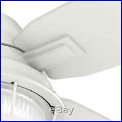 Hunter Fan 52 inch Casual Fresh White Ceiling Fan with LED Light Kit