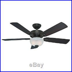 Hunter Fan 52 inch Casual New Bronze Indoor Ceiling Fan with Light Kit
