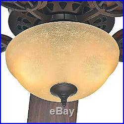Hunter Fan 52 inch Ceiling Fan with Bowl Light Kit in New Bronze, 5-Blade