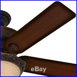 Hunter Fan 52 inch Cocoa Finish Traditional Ceiling Fan with Bowl Light Kit