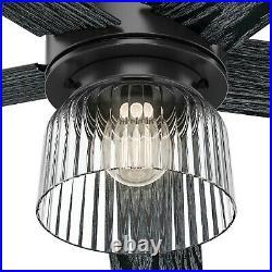 Hunter Fan 52 inch Contemporary Matte Black Ceiling Fan with Light Kit, 5 Blade
