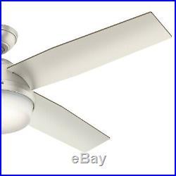 Hunter Fan 52 inch Contemporary Matte Nickel Ceiling Fan with LED Light Kit