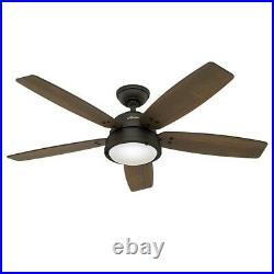Hunter Fan 52 inch Contemporary Noble Bronze Ceiling Fan w Light Kit and Remote