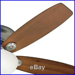 Hunter Fan 52 inch Low Profile Antique Pewter Indoor Ceiling Fan withLED Light Kit