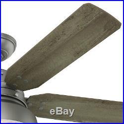 Hunter Fan 52 inch Modern Matte Silver Ceiling Fan with LED Light Kit