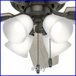 Hunter Fan 52 inch Noble Bronze Indoor Ceiling Fan with Light Kit and Pull Chain