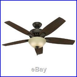 Hunter Fan 52 inch Premier Bronze Ceiling Fan with Cased White CFL Light Kit