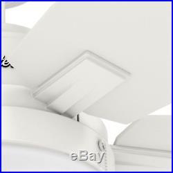Hunter Fan 54 in. Contemporary Ceiling Fan with LED Light Kit in Fresh White