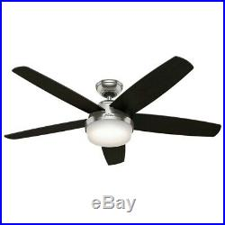 Hunter Fan 54 inch Brushed Nickel Ceiling Fan with CFL Light Kit & Remote Control