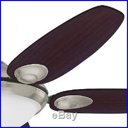 Hunter Fan 54 inch Brushed Nickel Ceiling Fan with Light Kit and Remote Control