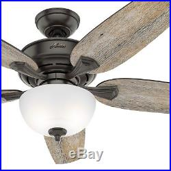Hunter Fan 54 inch Casual Nobel Bronze Indoor Ceiling Fan with Light Kit