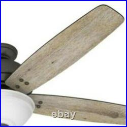 Hunter Fan 60 in Casual Fresh White Indoor Ceiling Fan with Light Kit and Remote