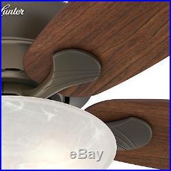 Hunter Fan 60 in. New Bronze Ceiling Fan with Swirled Marble Light Kit