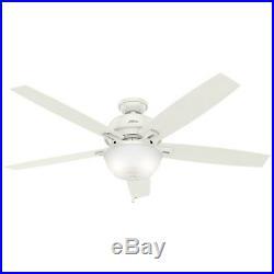 Hunter Fan 60 inch Ceiling Fan in Fresh White with LED Bowl Light Kit