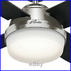 Hunter Fan 60 inch Contemporary Brushed Nickel Ceiling Fan with LED Bowl Light Kit