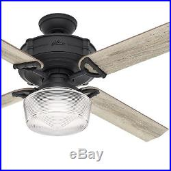 Hunter Fan 60 inch Traditional Natural Iron Ceiling Fan with Global LED Light Kit