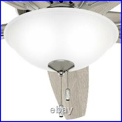 Hunter Fan 70 in Casual Brushed Nickel Ceiling Fan with Light Kit and Pull Chain