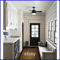 Hunter Fan Company Aker 32 Inch Indoor Ceiling Fan with LED Light Kit, Black