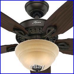 Hunter Heathrow 52 in. Indoor New Bronze Ceiling Fan with Light Kit
