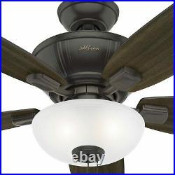 Hunter Kenbridge 52 Ceiling Fan with LED Light Kit and Pull Chain, Nobel Bronze