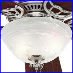 Hunter Kensington 42 in. Indoor Brushed Nickel Ceiling Fan with Light Kit 51015