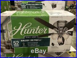 Hunter Omicron Led 54-in Brushed Nickel Led Indoor Ceiling Fan With Light Kit