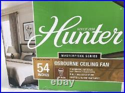 Hunter Osbourne 54 in. Indoor Onyx Bengal Bronze Ceiling Fan with Light Kit
