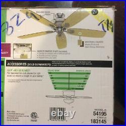 Hunter Regalia II 60 Brushed Nickel Ceiling Fan with Light Kit
