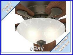 Hunter Regalia II 60-in New Bronze Downrod or close mount Ceiling Fan wLight Kit