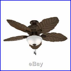 Hunter Sable Ridge 52 Indoor Outdoor Ceiling Fan & Light Kit
